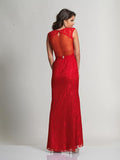 Dave & Johnny 1399 Back of Red Prom Dress