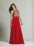 Dave & Johnny 1417 Red Prom Dress