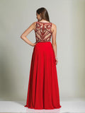 Dave & Johnny 1417 Back of Red Prom Dress