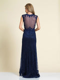 Prom Dress Dave & Johnny 1548 Navy Back