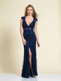 Prom Dress Dave & Johnny 1548 Navy