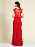 Prom Dress Dave & Johnny 1548 Red Back