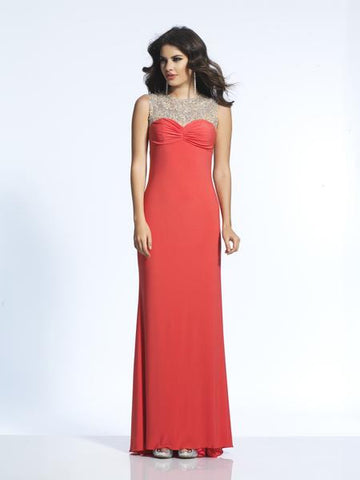 Dave & Johnny 1605 Coral Prom Dress