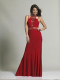 Dave & Johnny 1614 High Neck Tie Prom Dress