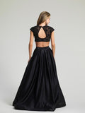 Prom Dress Dave & Johnny 1796 Black Back
