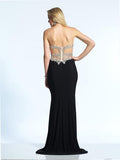 Dave & Johnny 2016 Prom Dress Black Back View