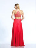 Dave & Johnny 2043 Prom Dress Red Back View