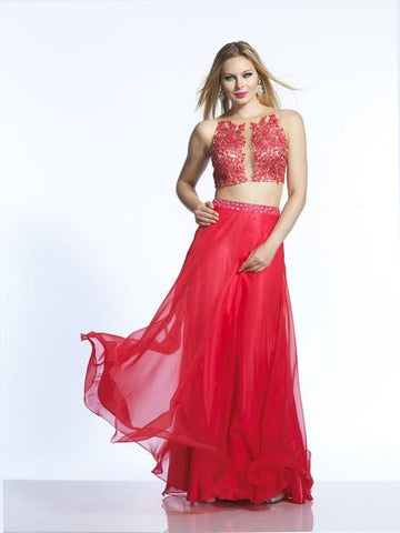 Dave & Johnny 2043 Red Prom Dress