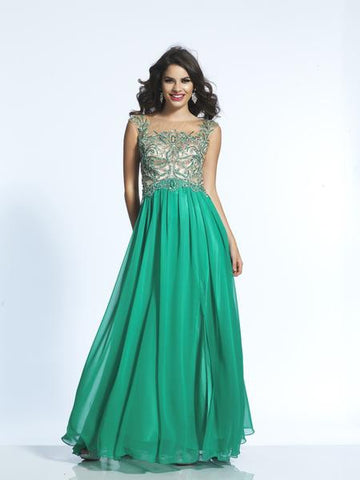 Dave & Johnny 2068 Prom Dress Green