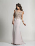 Champagne Prom Dress Dave & Johnny 2097
