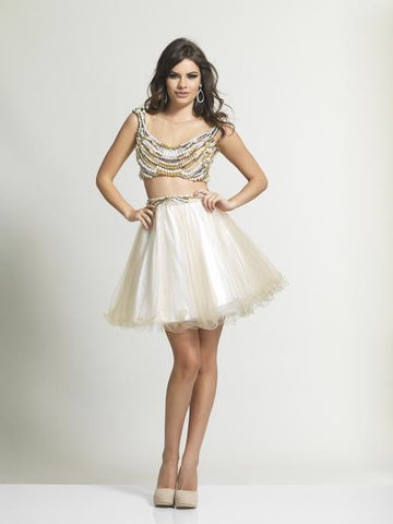 Dave & Johnny Ivory/White Prom Dress 2106