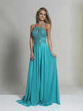 Dave & Johnny Turquoise Prom Dress 2143