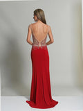 Dave & Johnny 2251 Red Prom Dress