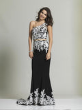 Dave & Johnny 2290 Black/White Prom Dress