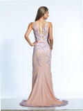 Dave & Johnny 2291 Blush Prom Dress
