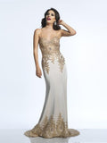 Prom Dress Dave & Johnny 2322 Champagne