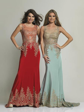 Dave & Johnny 2323 Red Prom Dress