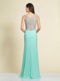 Prom Dress Dave & Johnny 2338 Aqua Back