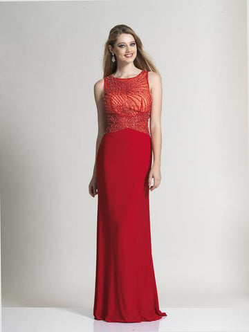 Dave & Johnny 2532 Prom Dress Red