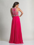 Dave & Johnny 2610 Fuchsia Prom Dress