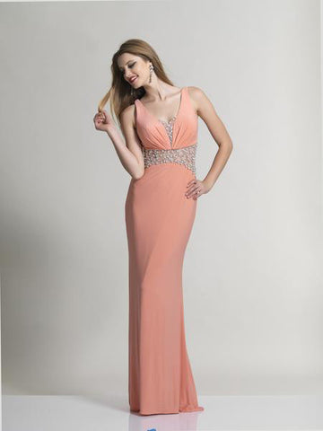 Dave & Johnny 2620 Prom Dress Coral