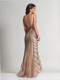 Dave & Johnny 2634 Coffee Prom Dress