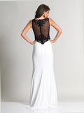 Dave & Johnny 2649 Black/White Prom Dress Back