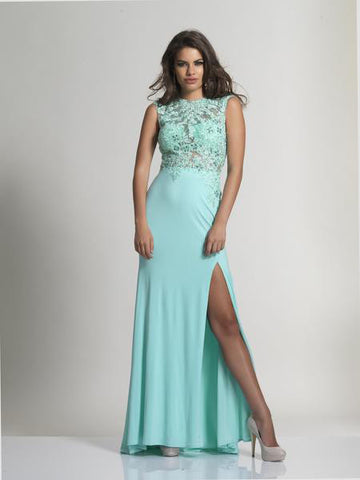 Dave & Johnny 2652 Prom Dress Aqua