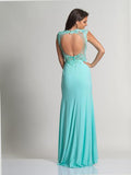 Dave & Johnny 2652 Aqua Prom Dress Back