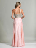 Dave & Johnny 2725 Prom Dress Blush Back