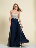 Dave & Johnny 2725 Prom Dress Navy