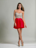 Homecoming Dress Dave & Johnny 2726 Red