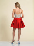 Prom Dress Dave & Johnny 2745 Red Back