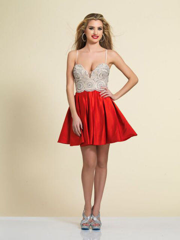 Prom Dress Dave & Johnny 2745 Red