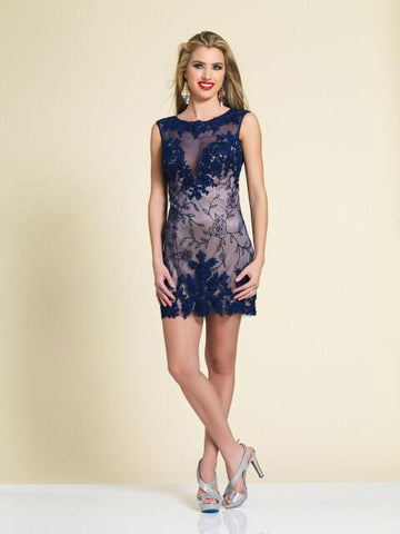 Dave & Johnny 2796 Homecoming Dress Navy