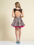Homecoming Dress Dave & Johnny 2810 Print Back