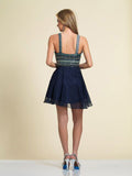 Dave & Johnny 2828 Homecoming Dress Navy Back