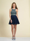 Dave & Johnny 2828 Homecoming Dress Navy