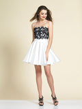 Homecoming Dress Dave & Johnny 2902 Black/Ivory