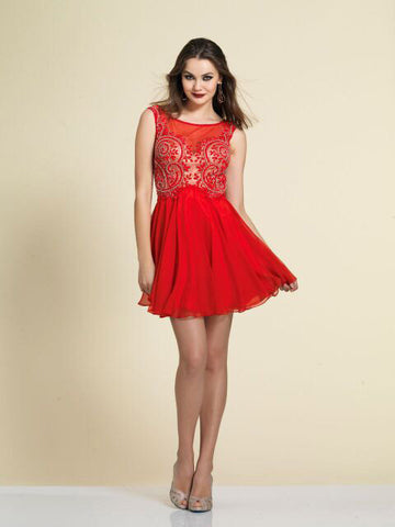 Dave & Johnny  Homecoming Dress 2906 Red