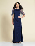 Prom Dress Dave & Johnny 2943 Navy