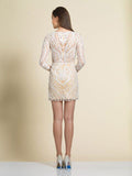 Homecoming Dress Dave & Johnny 2948 Ivory Back