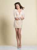 Homecoming Dress Dave & Johnny 2948 Ivory