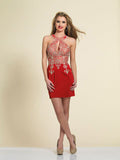 Homecoming Dress Dave & Johnny 2973 Red