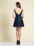 Homecoming Dress Dave & Johnny 2978 Navy Back