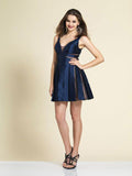 Homecoming Dress Dave & Johnny 2978 Navy