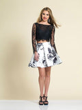 Homecoming Dress Dave & Johnny 3044 Black/White