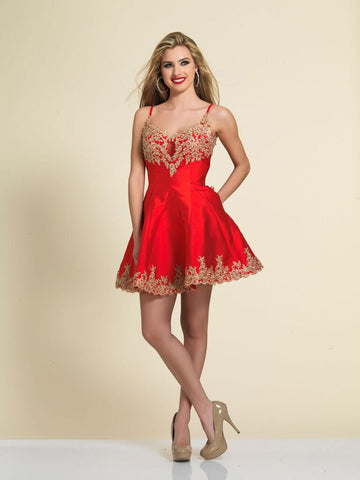 Homecoming Dress Dave & Johnny 3058 Red