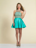 Homecoming Dress Dave & Johnny Aqua 3075
