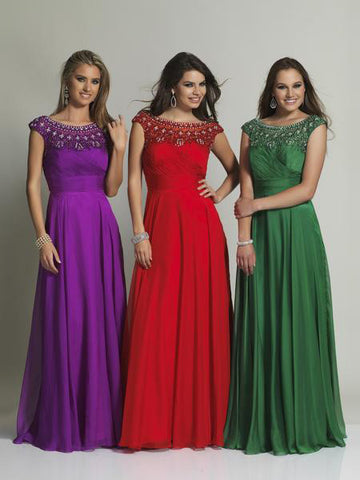 Dave & Johnny 366 Prom Dress Red, Green, Magenta